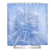 Dandelion Atmosphere Shower Curtain