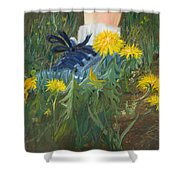 Dandelion Dance Shower Curtain