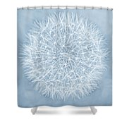 Dandelion Marco Abstract Blue Shower Curtain