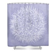 Dandelion Marco Abstract Lavender Shower Curtain