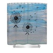 Dandelion Wind Shower Curtain