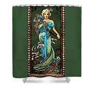 Danella Students 1 Green Shower Curtain