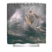 Danger At Sea Shower Curtain