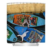 Dangerous Manouvers At The Nile River Canal Locks Shower Curtain