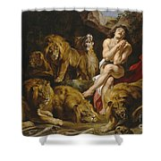 Daniel And The Lions Den Shower Curtain