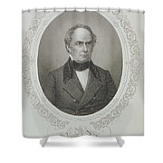 Daniel Webster, From The History Of The United States, Vol. II, By Charles Mackay, Engraved By T Shower Curtain