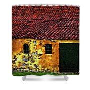 Danish Barn Impasto Version Shower Curtain by Steve Harrington