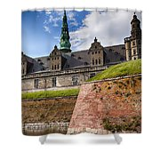 Danish Castle Kronborg Shower Curtain