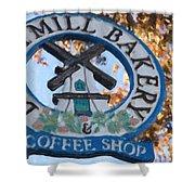 Danish Mill Bakery In Solvang California Shower Curtain