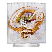 Danish Pastry Ring With Pecan Filling Shower Curtain