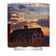Danny's Barn Shower Curtain