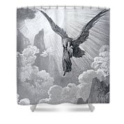 Dante And The Eagle Shower Curtain