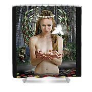 Danu Mother Goddess Shower Curtain
