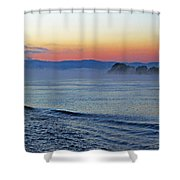 Danube Dawn Shower Curtain