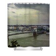 Danube River Shower Curtain