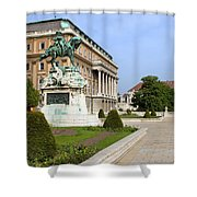 Danube Terrace At Buda Castle In Budapest Shower Curtain