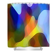 Dappled Light Shower Curtain by Amy Vangsgard
