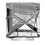 Dare Mighty Things Shower Curtain