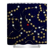 Dare To Be Different - Stars - Blazing Trails Shower Curtain