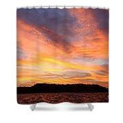 Darien Sunset Shower Curtain