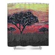 Dark Africa Shower Curtain