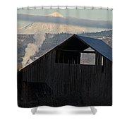 Dark Barn And Mt Mclaughlin Shower Curtain