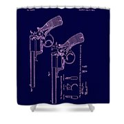 Dark Beaumont Revolver Patent Shower Curtain
