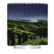 Dark Beauty Shower Curtain