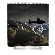 Dark Bombers  Shower Curtain