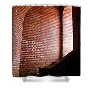 Dark Brick Passageway Shower Curtain by Frank Romeo