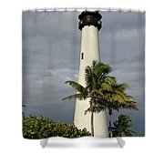 Dark Clouds Over Cape Florida Shower Curtain