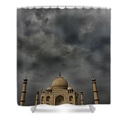 Dark Clouds Over Taj Mahal Shower Curtain