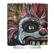 Dark Clown Shower Curtain