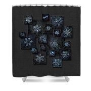 Snowflake Collage - Dark Crystals 2012-2014 Shower Curtain