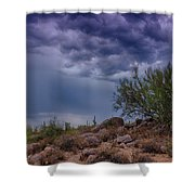 Dark Desert Skies  Shower Curtain