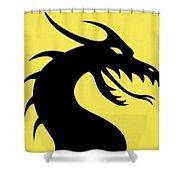 Dark Dragon Shower Curtain