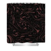 Dark Experiment Shower Curtain