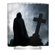 Dark Figure Shower Curtain by Joana Kruse