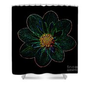 Dark Flower 2 Shower Curtain