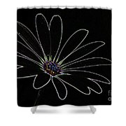 Dark Flower Shower Curtain