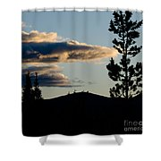 Dark Meets Light Shower Curtain