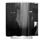 Dark Mirror Shower Curtain