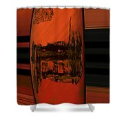 Dark Movement Shower Curtain