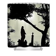 Dark Mysterious Light Shower Curtain