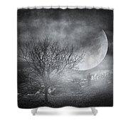 Dark Night Sky Paradox Shower Curtain by Taylan Apukovska