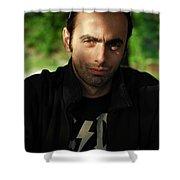 Dark Portrait Shower Curtain