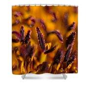 Red Flower Stamens Shower Curtain