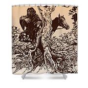 Dark Rider-tolkien Appreciation Shower Curtain