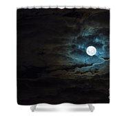 Dark Rising Shower Curtain
