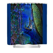 Dark River Shower Curtain